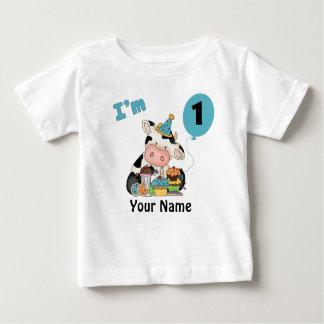Primera vaca del cumpleaños playera de bebé