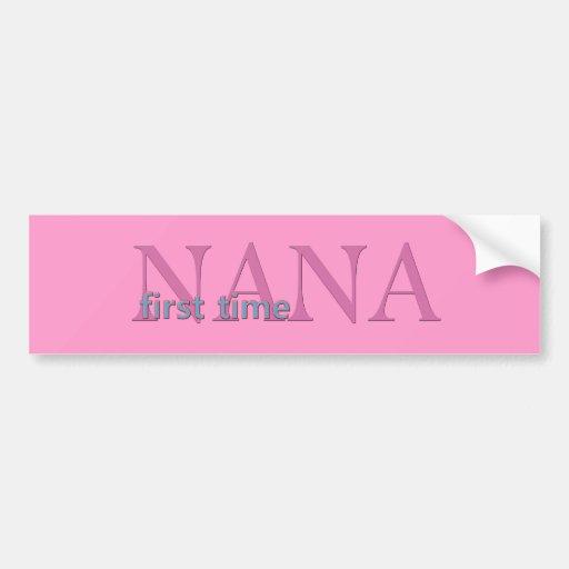 Primera vez Nana Pegatina Para Auto