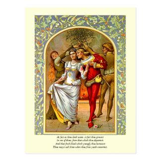 Primeras 4 líneas de soneto # 11 de Shakespeare Postal