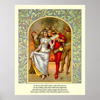 Primeras 4 líneas de soneto # 11 de Shakespeare Póster