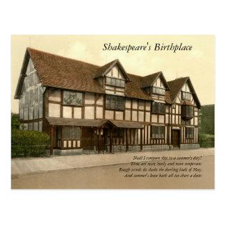 Primeras 4 líneas de soneto # 18 de Shakespeare Postal