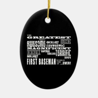 Primeras bases del béisbol: La primera base más Adorno Ovalado De Cerámica