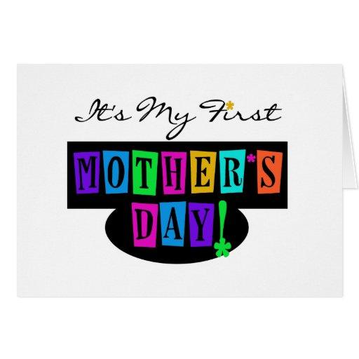 Primeras camisetas y regalo del día de madre de lo felicitación