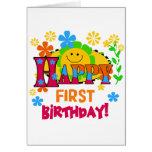 Primeras camisetas y regalos alegres del cumpleaño felicitación