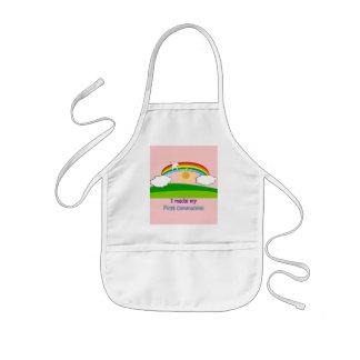 Primeras camisetas y regalos de la comunión de los delantal infantil