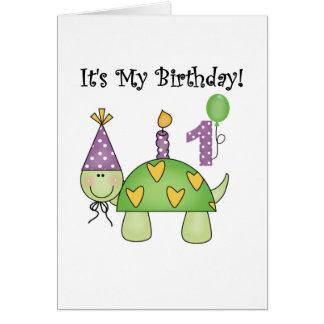 Primeras camisetas y regalos del cumpleaños de la  felicitación