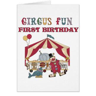 Primeras camisetas y regalos del cumpleaños del ci tarjeta de felicitación
