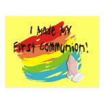 Primeras camisetas y regalos del día de la comunió postales