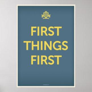 Primeras cosas primeras póster