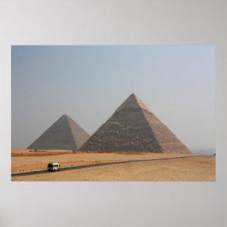 Primeras dos pirámides de Giza Póster