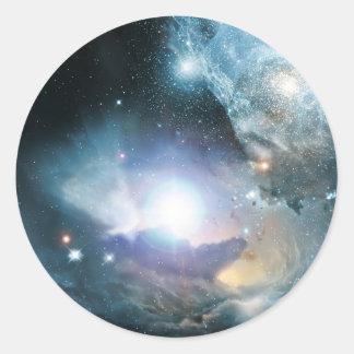 Primeras estrellas pegatina redonda