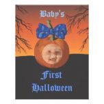 Primeras Halloween invitaciones del fiesta de Baby Comunicado Personalizado