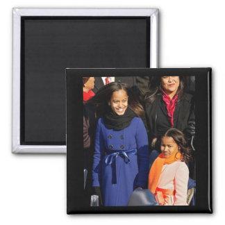 Primeras hijas Sasha y Malia Obama Imán De Nevera
