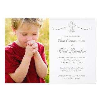 """Primeras invitaciones de la comunión de la foto invitación 5"""" x 7"""""""