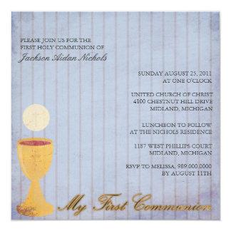 Primeras invitaciones de la comunión santa anuncios
