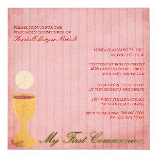 Primeras invitaciones de la comunión santa invitación 13,3 cm x 13,3cm