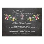 Primeras invitaciones florales de la comunión de l invitaciones personales