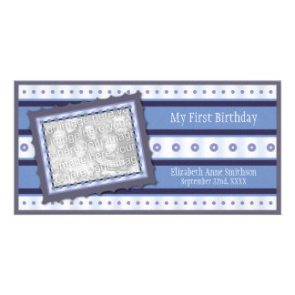 Primeras memorias del cumpleaños mi 1ra tarjeta az tarjeta personal con foto