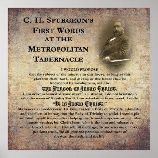 Primeras palabras del tabernáculo metropolitano póster
