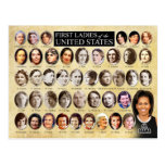 Primeras señoras de los Estados Unidos de América Tarjeta Postal