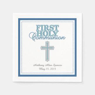 Primeras servilletas de papel de la comunión santa