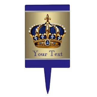 Primero azul de la torta del príncipe fiesta de bi decoración de tarta