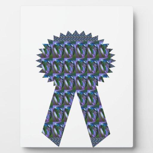 Primero AZUL del ganador del éxito de la CINTA de  Placa De Madera