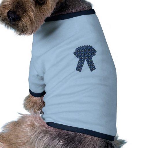 Primero AZUL del ganador del éxito de la CINTA de  Camiseta De Mascota