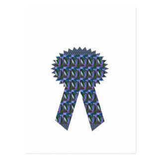 Primero AZUL del ganador del éxito de la CINTA de  Tarjeta Postal