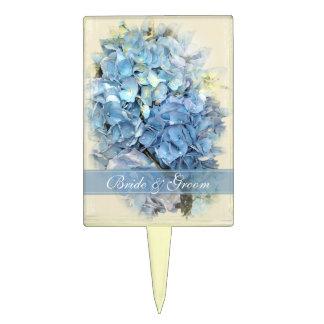 Primero azul del pastel de bodas de la flor del Hy Palillos De Tarta