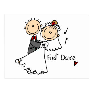 Primero camisetas y regalos del boda de la danza postales