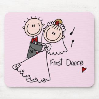 Primero camisetas y regalos del boda de la danza alfombrillas de raton