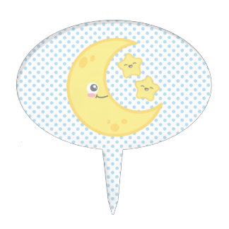 Primero de la luna de Kawaii y de la torta de las Figuras Para Tartas