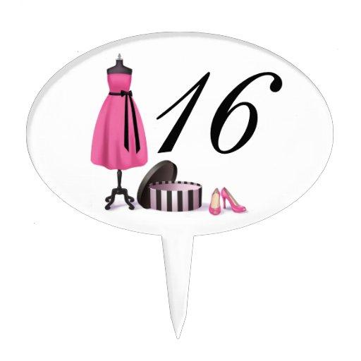 Primero de la selección del dulce dieciséis figuras para tartas