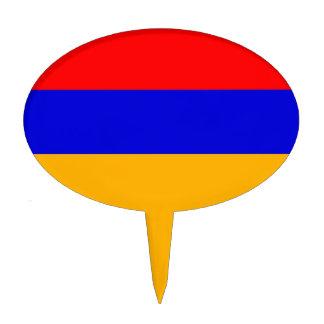 Primero de la torta con la bandera de Armenia Palillos De Tarta