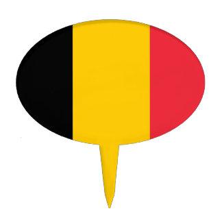 Primero de la torta con la bandera de Bélgica Figura De Tarta