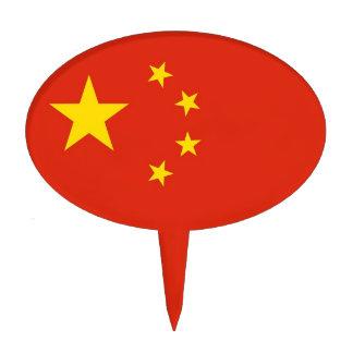 Primero de la torta con la bandera de China Decoración De Tarta