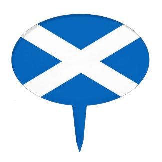 Primero de la torta con la bandera de Escocia Figuras De Tarta