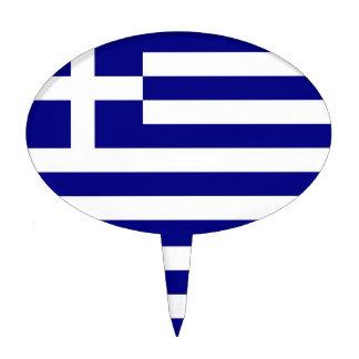 Primero de la torta con la bandera de Grecia Decoración Para Tarta