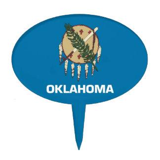 Primero de la torta con la bandera de Oklahoma lo Figura Para Tarta