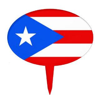Primero de la torta con la bandera de Puerto Rico, Decoración Para Tarta