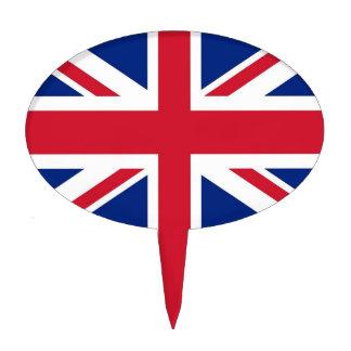 Primero de la torta con la bandera de Reino Unido Decoración Para Tarta