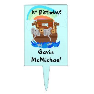 Primero de la torta de cumpleaños de la arca de No Decoración De Tarta