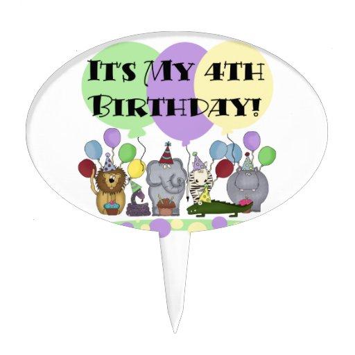 Primero de la torta de cumpleaños de los animales  decoración para tarta