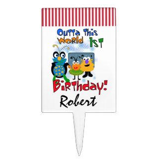 Primero de la torta de cumpleaños de los extranjer figuras de tarta