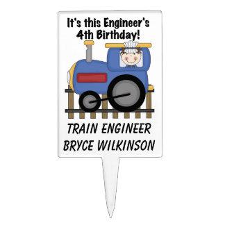 Primero de la torta de cumpleaños del ingeniero de decoración de tarta