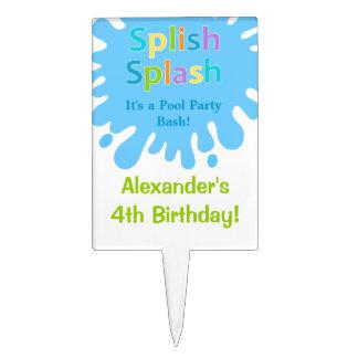 Primero de la torta de cumpleaños del muchacho de decoraciones para tartas