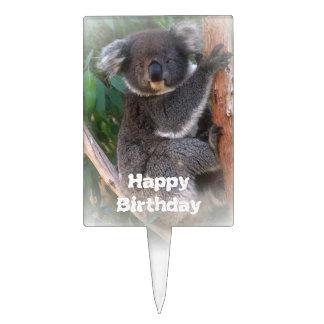 Primero de la torta de cumpleaños del oso de koala figura de tarta