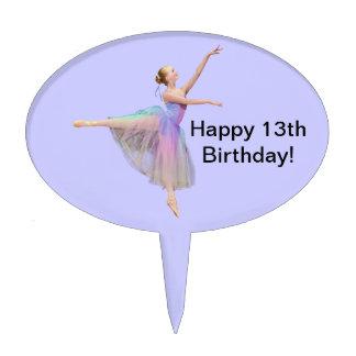 Primero de la torta de la bailarina, personalizabl figura de tarta