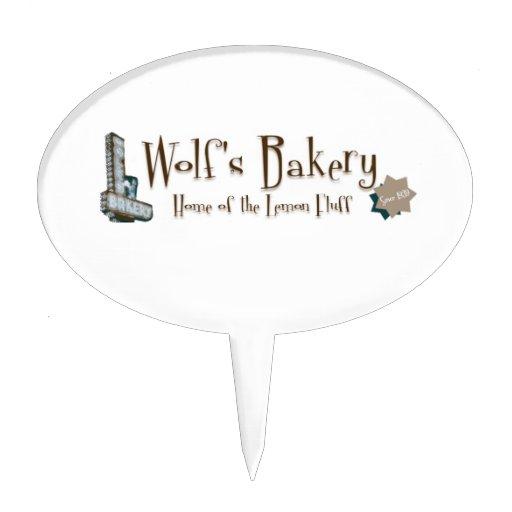 Primero de la torta de la panadería del lobo palillos de tarta